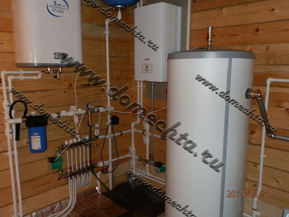 Горячее и холодное водоснабжение частного дома