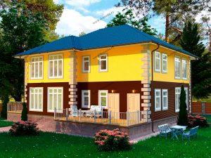 Каркасный загородный дом
