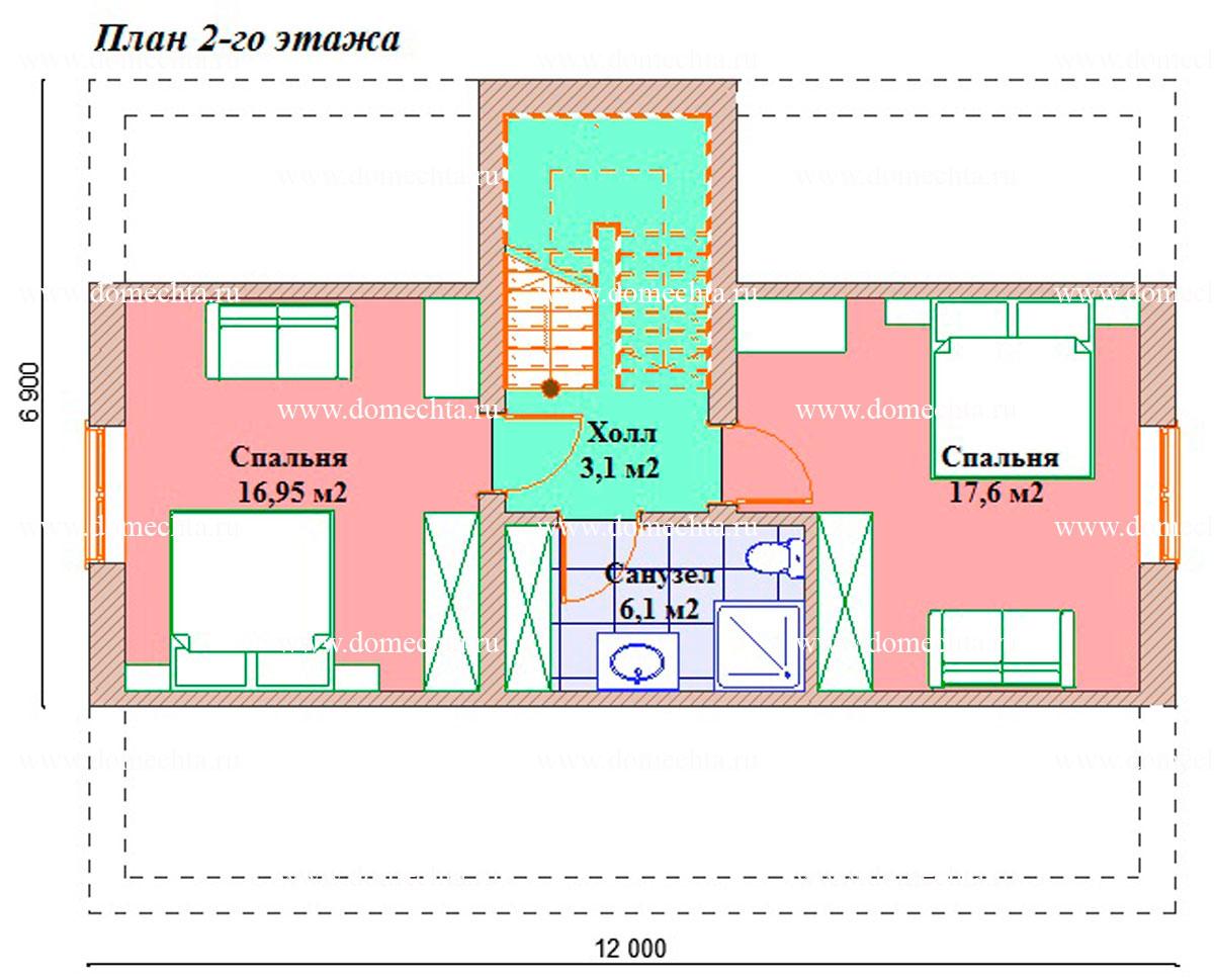 Дом из блоков 134 м2 2 этаж