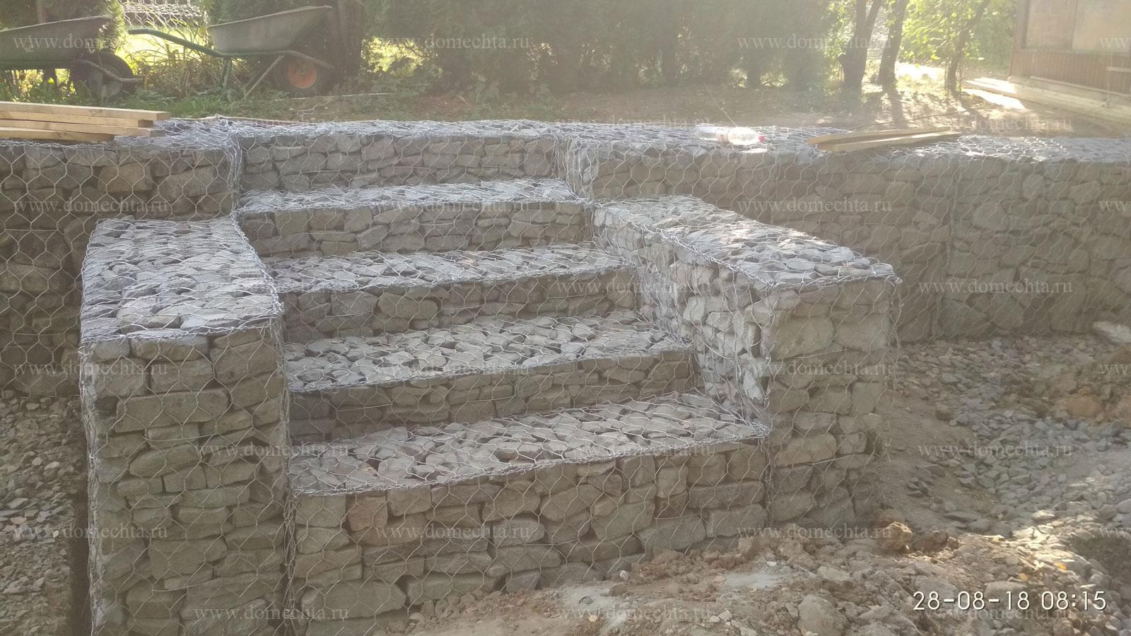 лестница из габионов